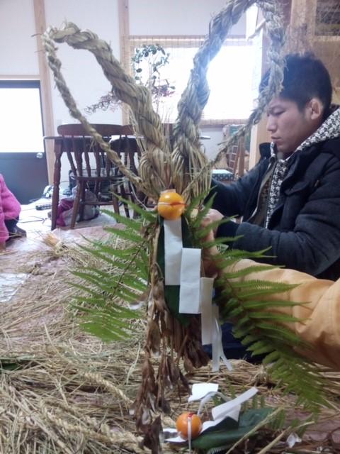 正月飾り(玉飾り)作り体験